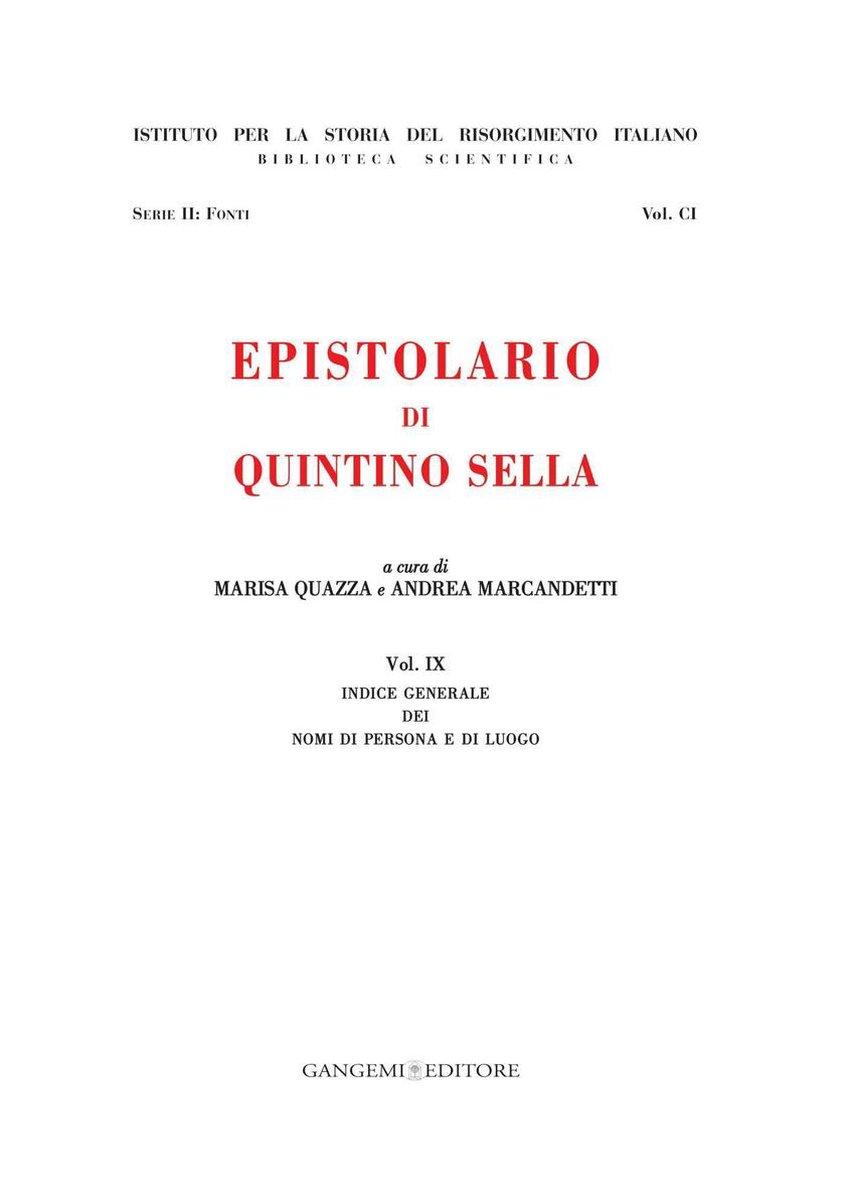 Epistolario di Quintino Sella - Aa. Vv.
