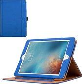 iPad 9.7 2017 Hoes Book Smart Case Cover met Apple Pencil Houder - Blauw