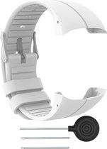 Siliconen Horloge Band Voor Polar M430 & M400-  Armband / Polsband / Strap Bandje / Sportband - Wit