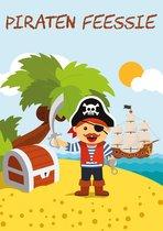 Uitnodigingen voor Kinderfeestje - Set van 10 x uitnodiging - Piraten - invulbaar