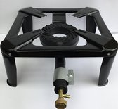 Konder Gasbrander 40 x 40 cm / 6.5 KW - Zwart