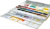 Cotman aquarelverf set metalen doos 24 napjes
