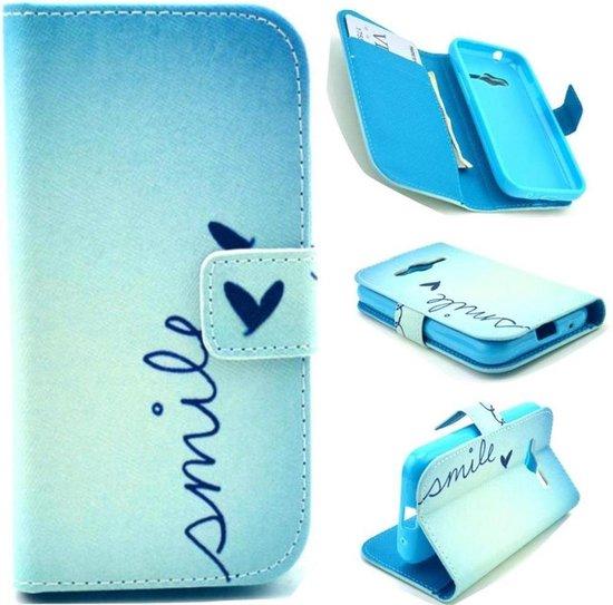 Smile print wallet hoesje Samsung Galaxy Ace 4 G357FZ