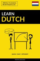 Learn Dutch: Quick / Easy / Efficient: 2000 Key Vocabularies