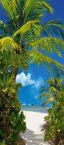 Homedecoration Fotobehang - Deurposter - Tahiti - Natuur - 90 x 200 cm.