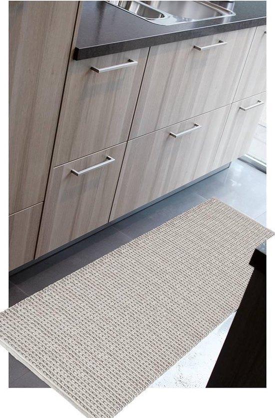 Keukenloper kleur olijf Afm: 55x110cm