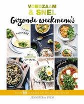 Boek cover Voedzaam & Snel Gezonde weekmenus van Jennifer en Sven (Hardcover)