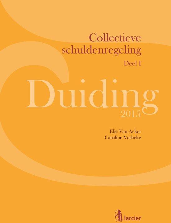 Larcier Duiding - Duiding Collectieve schuldenregeling