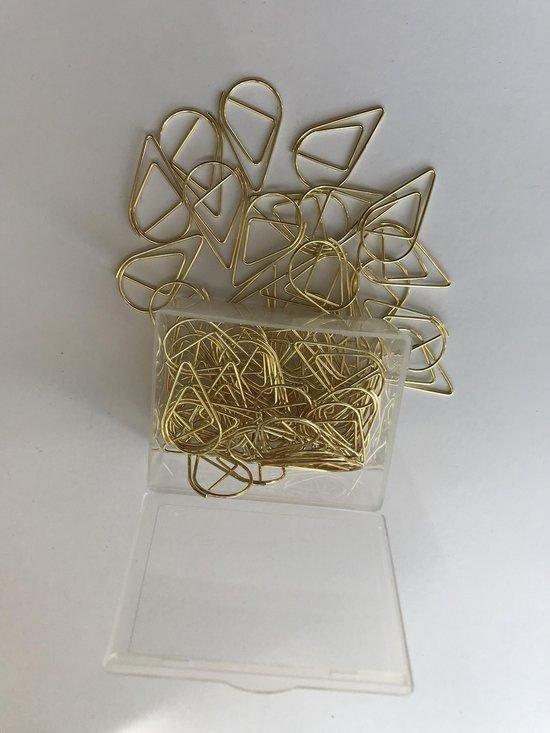 Paperclips Druppel Goudkleurig - 2,5 cm - 50 stuks