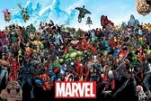 Marvel Comics POSTER  Hulk-iron Man-Thor Superhelden 61 x 91,5 cm