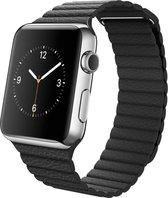 Slobccessories Leren bandje - Apple Watch Series 1/2/3 (42mm) - Zwart