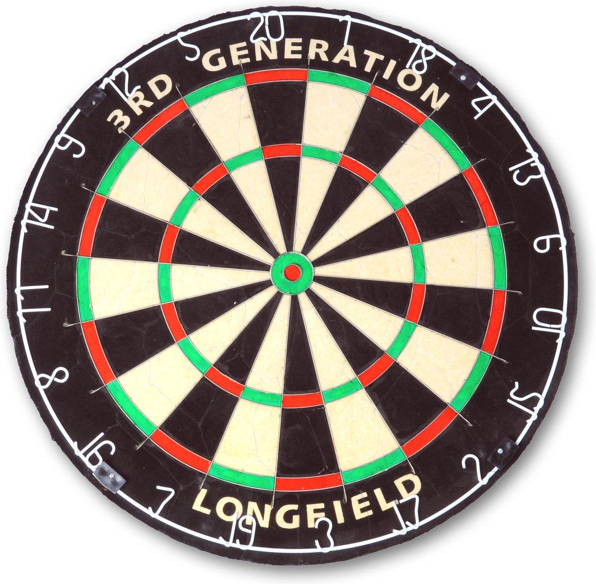 Longfield Dartbord 3RD Generation - Sisal - Dartbord