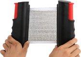 BG4U Pocket Tafel Tennis Net - Uitschuifbaar - 2 meter - Zwart/ Rood