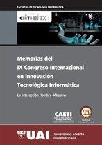 Boekomslag van 'Memorias del IX Congreso Internacional en Innovacion Tecnologica Informática: IX CIITI: La interaccion hombre máquina'