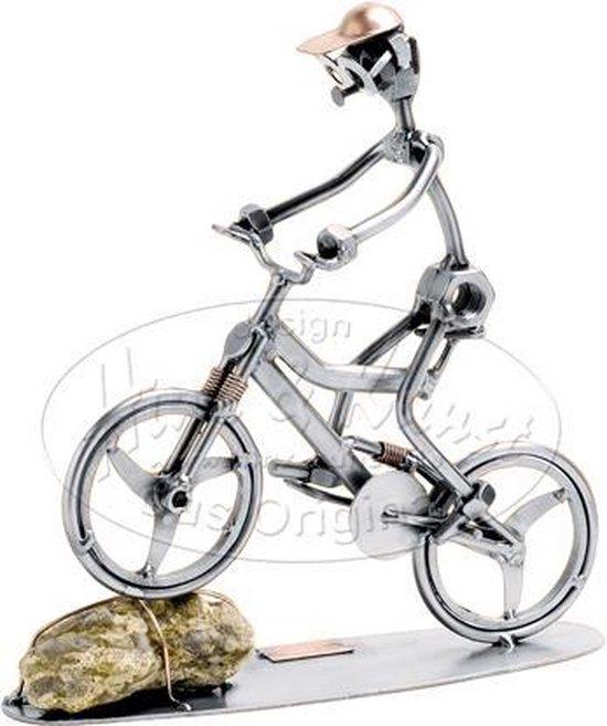 "Hinz & Kunst smeedwerkfiguur ""Mountainbike"""