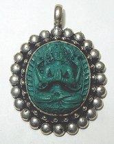 Turkoois Shiva Hanger Zilver