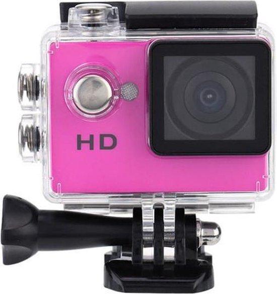 4K Full HD Sport Actie Camera | Action Sports Cam 1080p | 2 inch LCD scherm | Onderwater Camera | Waterdicht tot 30 meter | Extreme Sport Camera inclusief accessoires | kleur Roze