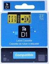 Dymo D1 40918 compatible tape 9mm. zwart op geel PrintVoordeelshop huismerk