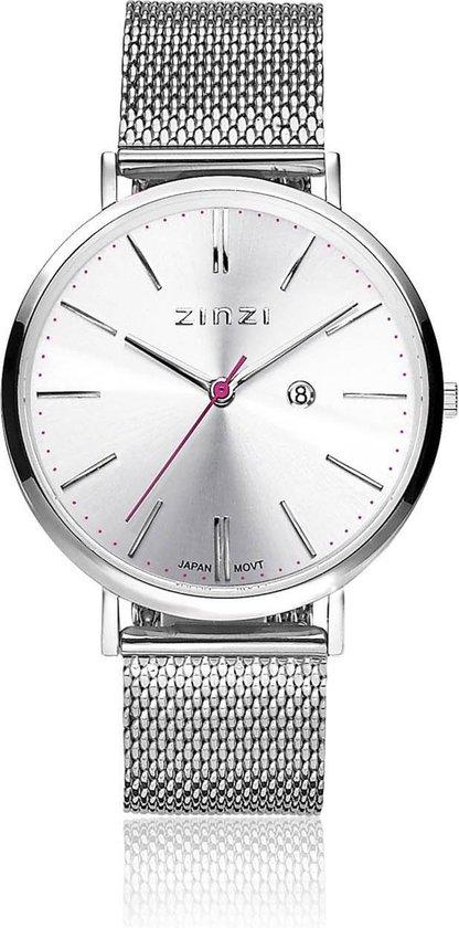 Zinzi Horloge Retro + gratis Armband ZIW402M Zilverkleurig Ø 38 mm