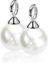Zinzi - Silver Jewels Pearl - oorringhangers - ZICH305W
