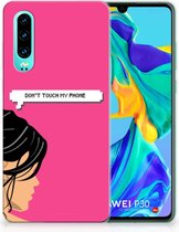 Huawei P30 Uniek TPU Hoesje Woman DTMP
