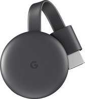Google Chromecast Smart TV-dongle Full HD HDMI Antraciet, Grijs