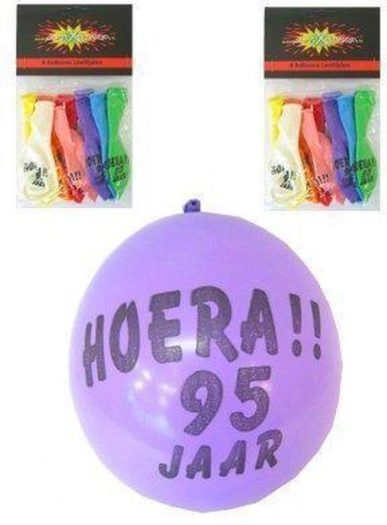 Ballonnen 95 jaar 8 stuks