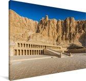 De Vallei der Koningen in Luxor Canvas 180x120 cm - Foto print op Canvas schilderij (Wanddecoratie woonkamer / slaapkamer) XXL / Groot formaat!