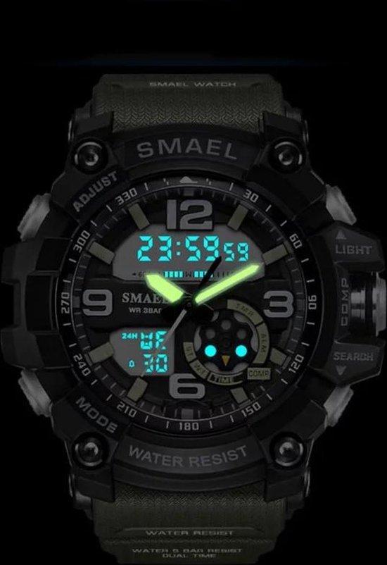 Smael Digital Sport horloge Zwart/Blauw 1617 - Smael