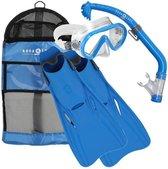 Aqua Lung Sport Santa Cruz Kids - Snorkelset - L/XL (32-37) - Blauw