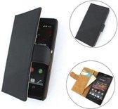 TCC Luxe hoesje Sony Xperia C Book Case Flip Cover C2305 - Zwart
