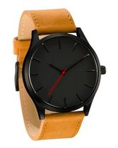 Hidzo Horloge Reloj ø 37 mm - Bruin - Inclusief horlogedoosje
