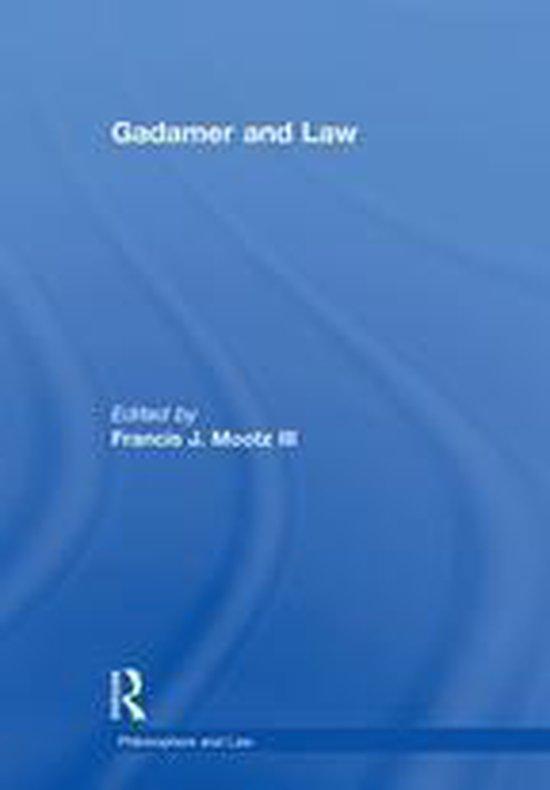 Omslag van Gadamer and Law