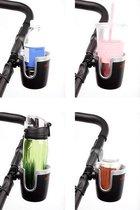 Diono - Cup Holder - Bekerhouder voor waterflesjes, blikjes en koffiebekers - Universele flesjeshouder voor buggy en kinderwagen