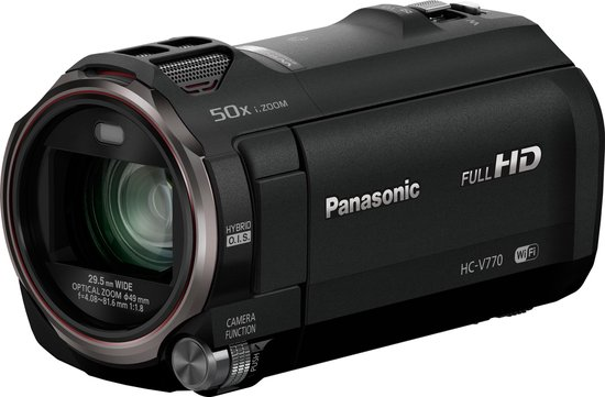 Panasonic HC-V770 - Camcorder Full HD -Zwart