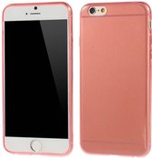 TPU Softcase 0.6mm iPhone 6(s) - Rood