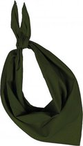 Zakdoek bandana olijf groen