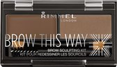 Rimmel London Brow this way Eyebrow kit - 002 Brown - Wenkbrauwpoeder