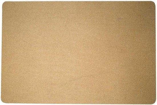1x Gouden glitter placemats van vinyl 43,5 x 28,5 cm - gouden kerst onderleggers