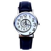 Fako Bijoux® - Horloge - Swirl - Zwart