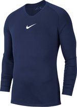 Nike Park Dry First Layer Longsleeve  Thermoshirt - Maat M  - Mannen - navy/wit