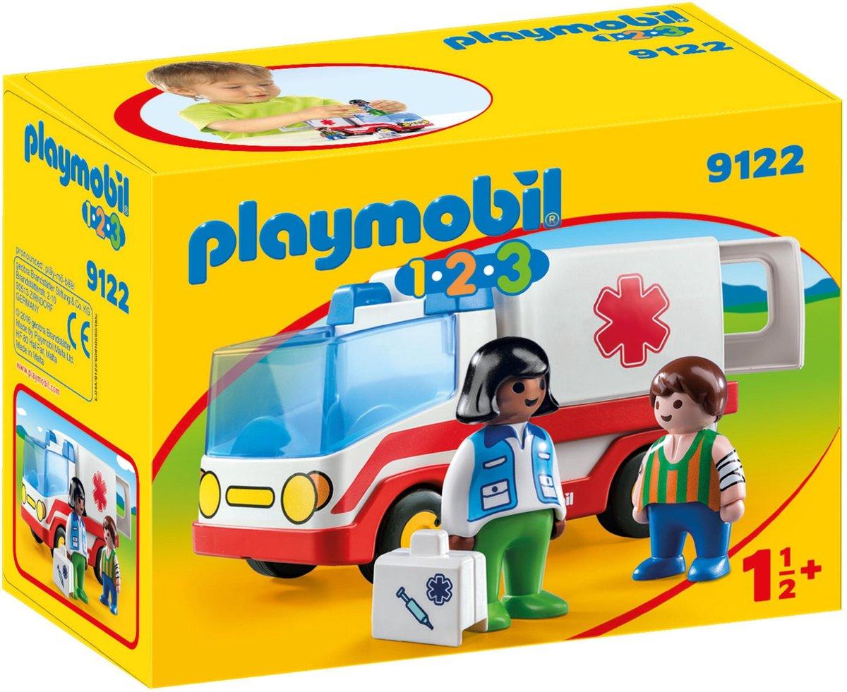 PLAYMOBIL 123 Ziekenwagen - 9122