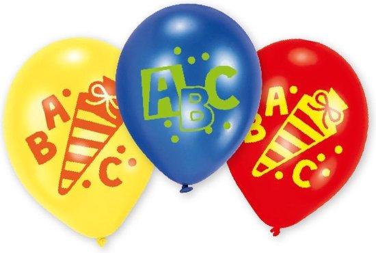 6 Latex Balloons Back to School 22.8 cm/9