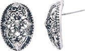Oorstekers in ovale vorm vintage design met steentjes
