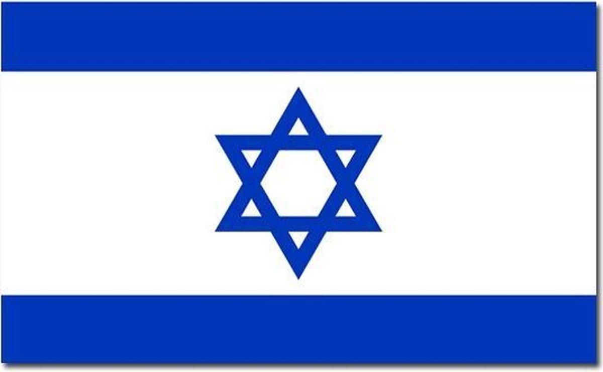 Vlag Israel 90 x 150 cm feestartikelen - Israel landen thema supporter/fan decoratie artikelen - Merkloos