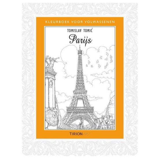 Kleurboek voor volwassenen Parijs - Tomislav Tomic |