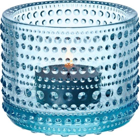 Iittala Kastehelmi - Waxinelichtjeshouder - Sfeerlicht - h 6.4 cm - Lichtblauw