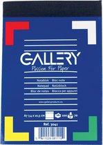 Gallery notitieblok formaat 74 x 105 cm (A7) gelijnd blok van 100 vel