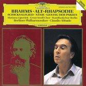 Brahms: Alt-Rhapsodie, etc / Abbado, Berlin PO