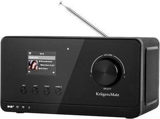 Krüger & Matz KM0816 - DAB+, internet en FM radio met Bluetooth connectiviteit  - Zwart